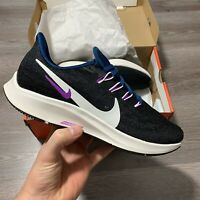 WOMENS NIKE AIR ZOOM PEGASUS 36 BLACK  RUNNING TRAINERS SIZE UK6 US8.5 EUR40