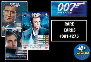 James Bond 007 Spy Cards - COMMANDER RARE SINGLES - Restocked