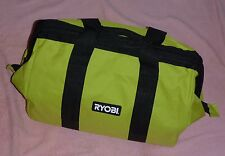 Ryobi One+ 18v Lithium Green Wide-Mouth Tool Bag  NEW!