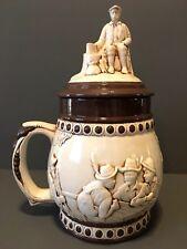 """Vintage Ceramic German Beer Stein Cookie Jar 12"""" Tall"""