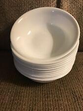 "Twelve (12) Corelle Winter Frost White 6 1/4"" Cereal Bowls"
