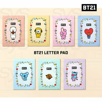 BTS BT21 Official Authentic Goods Letter Pad 100 x 140mm 70P * 7SET + Tracking#