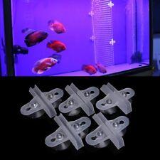 5pcs Aquarium Fish Tank Divider Suction Cup Divider Plastic Sheet Holder Set New