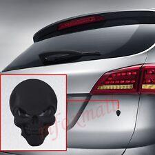 3d AUTO Emblem Badge Logo Adesivo Decalcomania Osso Nero Teschio Testa Accessori Trim