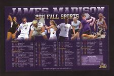 James Madison Dukes--2011 Football/Fall Sports Magnet Schedule