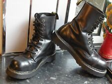 BLACK  DR.MARTENS FINE HAIRCELL 10966 BOOTS SIZE UK 8