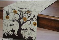 Halloween Home Wear Spooky Book Festive Table Runner 14x72 inch NWT