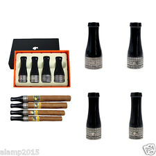 COHIBA Gray Pure Copper & Resin 4 Sizes Cigar Holder Mouthpiece With Gift Box