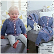 Knitting Pattern Bambino 3 stili SD a Coste Cardigan DK King Cole 4965