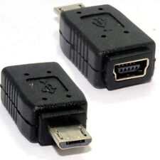 USB Mini B 5 Pin Socket A Micro Usb Adaptador Convertidor de enchufe macho