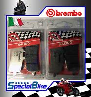 DUCATI MONSTER 1200 R 2015 > 2016 BREMBO RC CARBON BRAKE PADS 2 SETS RACING