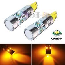 2pcs Amber Yellow High Power 25W T10 168  5-CREE Q5 LED Turn Signal Lights bulbs