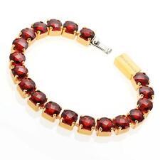 New Rebecca 30.78ctw Hydro Garnet Tennis Bracelet