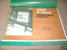 AKAI X-150D STEREO TAPE DECK OWNERS MANUAL  23 PAGES FREE SAME DAY SHIPPING