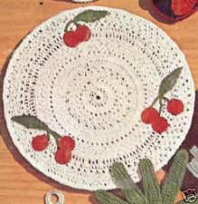 Crochet Cherry Motif Placemat Pot Holder Hot Pattern