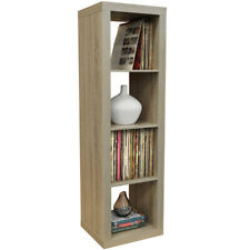 4 Cubby Square Display Shelves / Vinyl LP Record Storage Tower -Limed Oak 5123OC