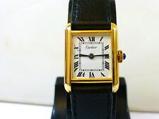 1960-70s 18K GOLD ELECTROPLATED LADIES CARTIER TANK IN EXCELLENT CONDITION
