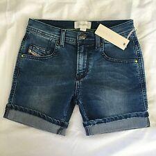 "Diesel Panfy-A Girls Age-8 Blue Shorts BNWT RRP £79 Pants Jeans 4 xxs 22"" 23"""