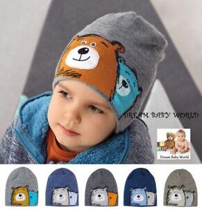 BEANIE baby boys hat winter warm autumn Knitted BOY KIDS 2-4 years CAP