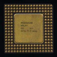 A80486DX2-66 SX955 gold plated lid 486 cpu. Supports write back cache