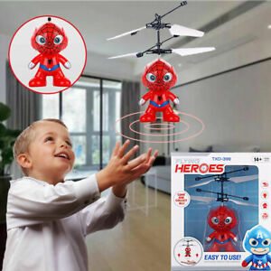 RC Flying Superhero Spiderman Remote Control Toy Portable Kids Creativity Gift