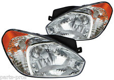 New Replacement Headlight Assembly PAIR / FOR 2006-2007 HYUNDAI ACCENT HATCHBACK