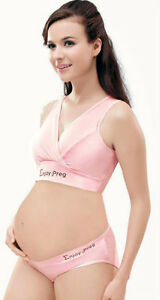 Maternity Breastfeeding Nursing vest /sleeping bra Pink/Nude/Black UK size 8-16