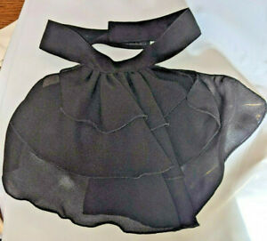 New Women's Dickie Collar Black Ruffled Dressy