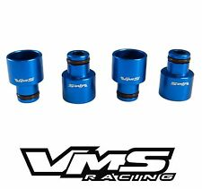 VMS Fuel Injector Top Hats RDX Injectors into B16 B18 D16 D17 Civic Integra Blue