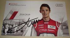Le Mans 2012 3rd Place - Du Mans WEC Audi R18 Ultra #4 Oliver Jarvis Signed Card