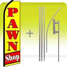 Swooper Feather Flutter Banner Sign Flag 15' Kit- Pawn Shop yq