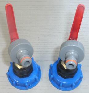 AMK99 2 Stück Auslaufhahn IBC-Container-Zubehör-Wasser-Adapter-Fass-Garten