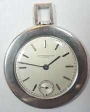 Estate Vacheron & Constantin Geneva Platinum Pocket Watch 16 Size 18 Jewels Fine