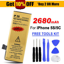 Premium for Apple iPhone 5s 5c Replacement Battery 2680mah Li-ion Gold Tools Kit