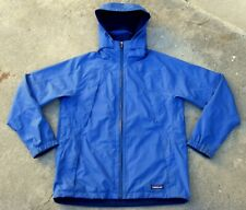 Patagonia Hooded Rain Jacket Women's Sz Small independence blue