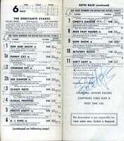 Paul Bear Bryant Bob Hope Jsa Autograph  1974 Kentucky Derby Program Hand Signed
