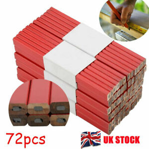 72pcs Carpenters Pencils Joiner Woodwork lead Wood Pencil  Marker Pencils uk