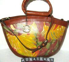 Patricia Nash Tropical Dreams Ossi Satchel Multi Colored Leather Handbag NWT