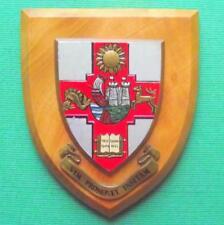 Old Vintage Heraldic University of Bristol College School Crest Shield Plaque