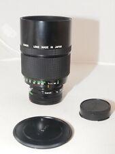 Canon FD Reflex Mirror 500mm f/8 Telephoto Lens. Canon F-1, T90, A-1, AE-1, T70