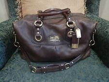 Coach Madison Sabrina LG Marble Brown Satchel Handbag 12949