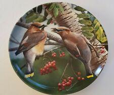 "Knowles Encyclopedia Britannica Bird of Your Garden ""The Cedar Waxwing"" Plate"
