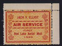 Canada Sc #CL6 (1926) Jack V. Elliot Air Service Semi-Official Airmail VF Mint