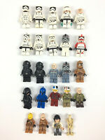 Lot 20 Mini Figurines Lego Star Wars /  Stormtrooper Rebel Pilot Minifigure