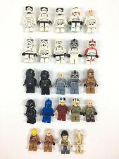 Lot 20 Mini Figurines Lego Star Wars /  Stormtrooper Rebel Pilot Minifigure
