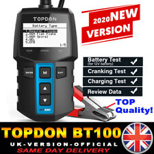 UK TOPDON 12V Car Battery Health Tester Battery Analyzer Diagnostic Tool 2000CCA