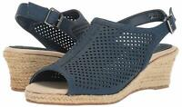 Easy Street Womens Stacy Peep Toe Casual Slingback Sandals, Blue, Size 8.5 AqGz