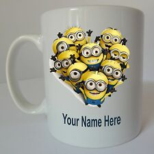 DESPICABLE ME Personalised Minion Mug Birthday Christmas Gift Present Design E