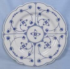 Strawflower Salad Plate Winterling Germany Blue White Scalloped Vintage