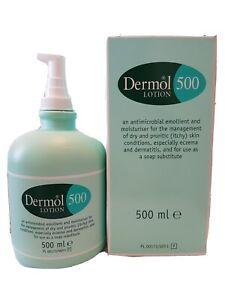 Dermol 500 Lotion - Antimicrobial Emollient and Moisturiser - 500ml - (Original)